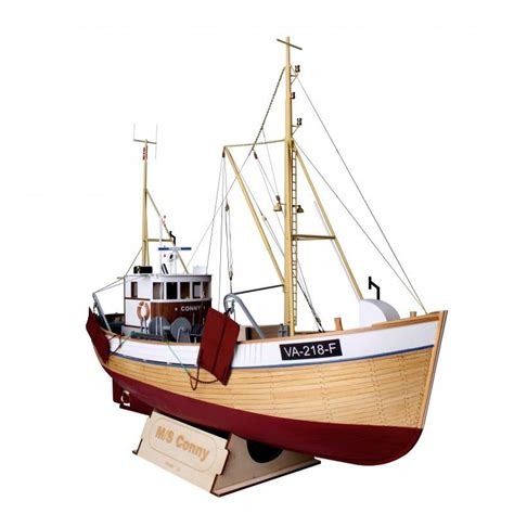 wooden fishing boat model kits m s conny 1 25 scale norwegian fishing boat wood model kit