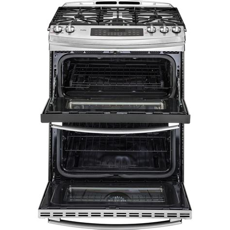Oven Gas Convection pgs950sefssge profile 6 8 total cu ft slide in self clean oven convection gas range