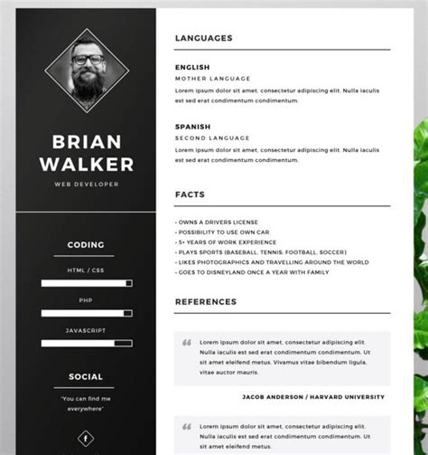 illustrator resume template 130 new fashion resume cv templates for free