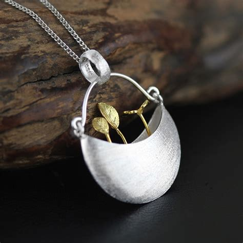 best silver jewellery exclusive design unique my garden pendant genuine