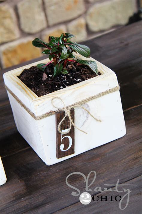 Diy Planter Box Centerpiece by Diy Centerpiece Mini Planter Boxes Shanty 2 Chic