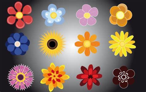 imagenes de flores vectorizadas dibujos animados flores muestras conjunto de vectores