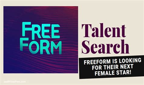 Free Talent Search Freeform Abc Family Holding Auditions And Talent Search For Lead
