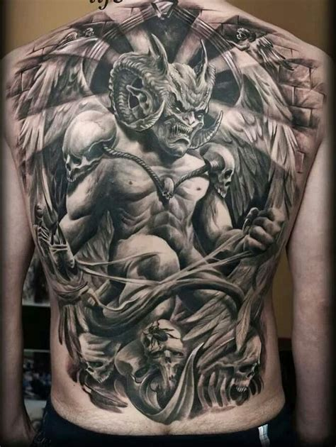 black and grey demon tattoos 50 amazing full back tattoos