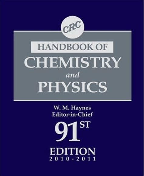 a concise handbook of mathematics physics and engineering sciences books crc handbook of chemistry and physics