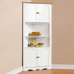 White Corner Kitchen Cabinet White Double Door Home Kitchen Corner Cabinet Cupboard
