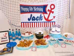 Sailor birthday party ideas moms amp munchkins