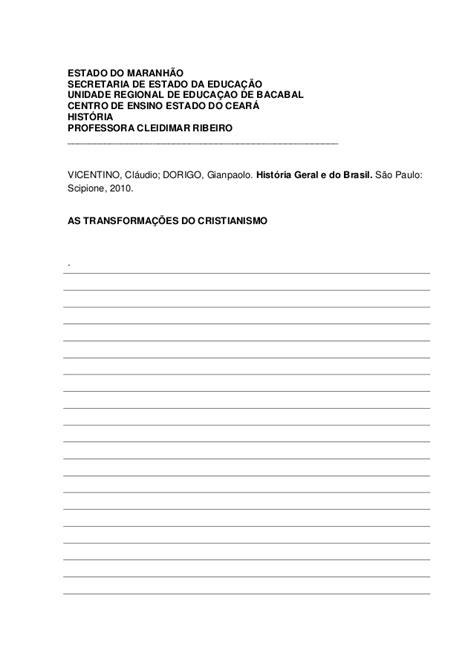Fichamento manuscrito