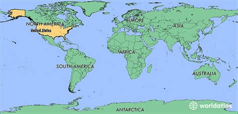 america map showing countries where is the united states of america where is the