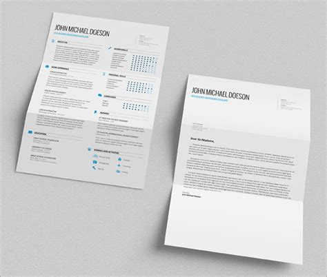 Cover Letter Template Psd 10 Best Free Resume Cv Templates In Ai Indesign Psd Formats
