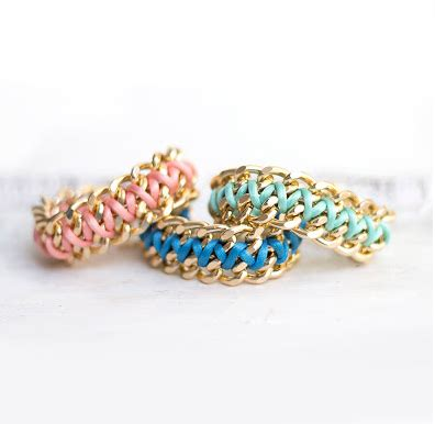 Upcycling Jewelry - chain amp cord bracelet diy
