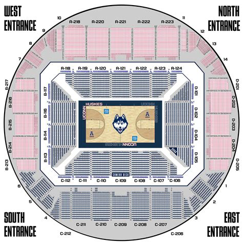 xl center layout uconnhuskies com university of connecticut official