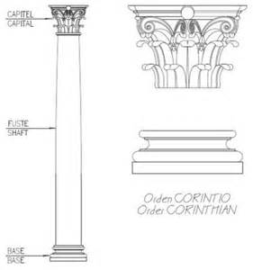 column drawing corinthian column drawing