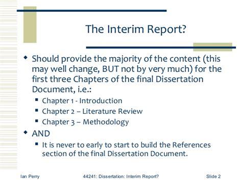 interim report exle for dissertation interim report requirements