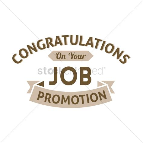 Congratulations Promotion by Congratulation Promotion Wish Vector Image 1827519 Stockunlimited