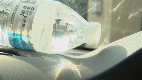 leaving  water bottle   car   dangerous
