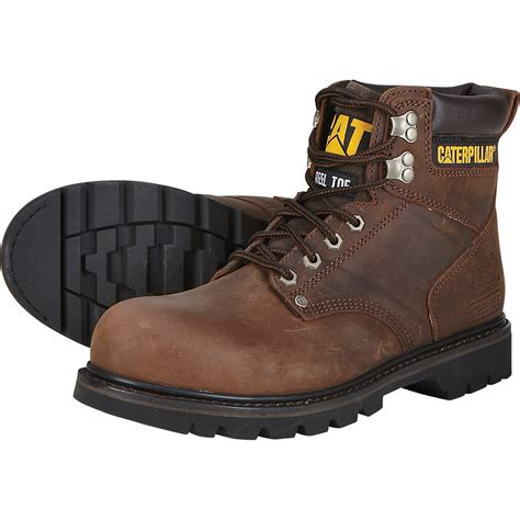 cat 6in 2nd shift steel toe boots brown model