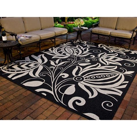 Outdoor Patio Rugs by Safavieh Courtyard Black Indoor Outdoor Area Rug