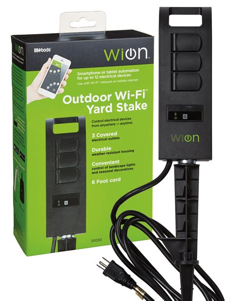 light switch timer wifi wion 50053 outdoor wi fi yard stake with 3 outlets