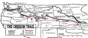 map of the oregon trail with landmarks oregon history 101