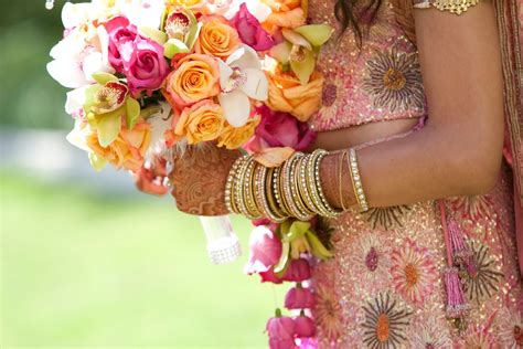 Flower Bokays Wedding by The Significance Of Flowers In Indian Weddings Beneva