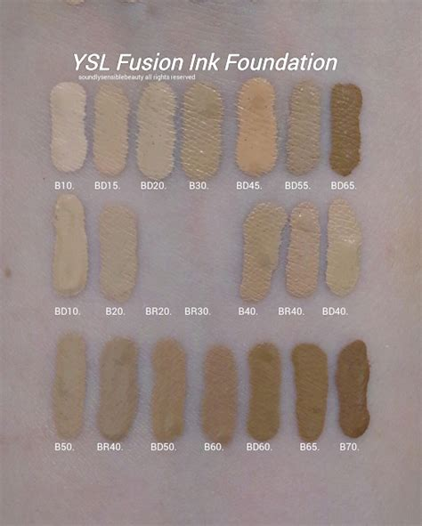 Ysl All Hours Matte Foundation Bd45 Warm Bisque ysl fusion ink foundation review swatches of shades