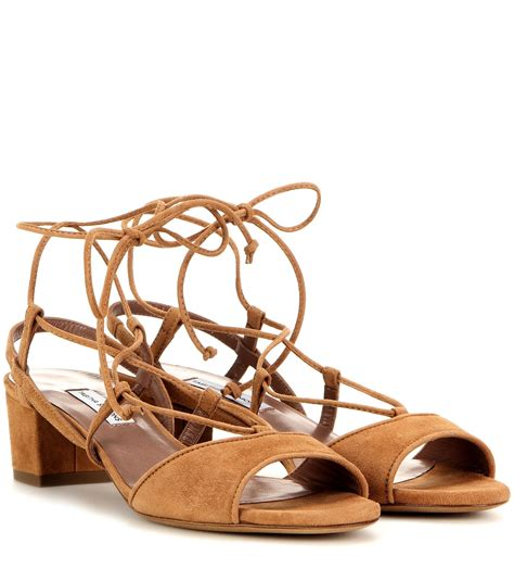 simmons sandals simmons lori suede sandals in brown lyst