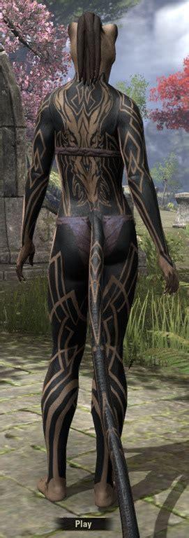 eso fashion pact warrior body tattoos elder scrolls