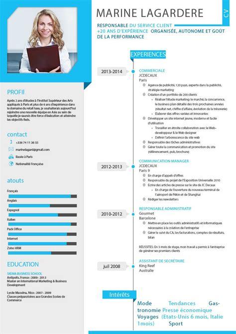 Type De Cv Professionnel by Mod 232 Le De Cv Professionnel Cv Type Gratuit Jaoloron