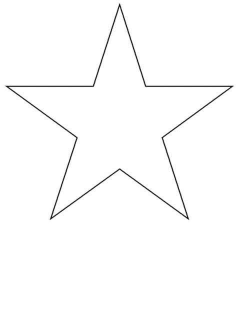 stars shape colouring pages