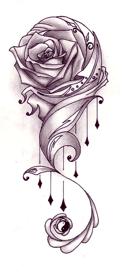 melting rose tattoo melting design