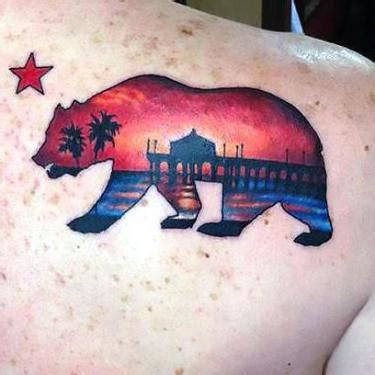 small california tattoos cool hawk design