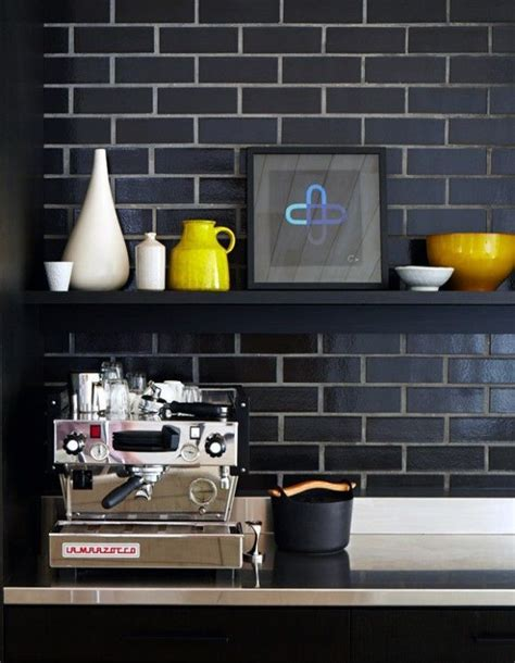 black subway tile kitchen backsplash handsome kitchen space using matte black subway tile