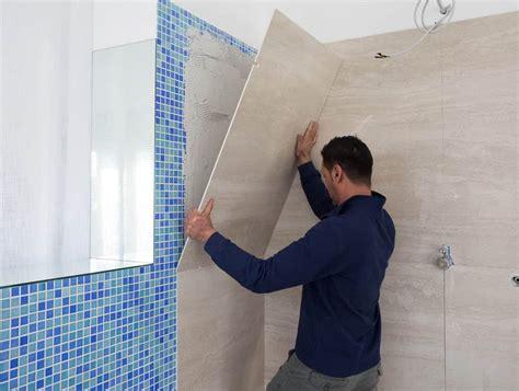 doccia nella vasca fasi di lavorazione della trasformazione da vasca a doccia