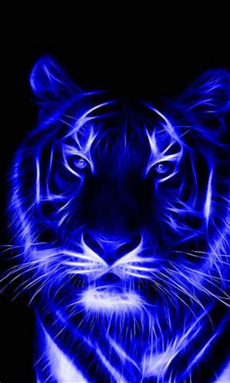 Kaos 3d Tiger Neon tiger wallpaper for android gallery
