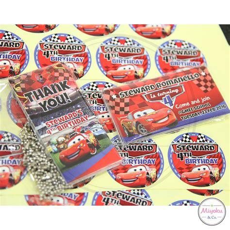 Balon Ulang Tahun Dengan Lu Led 5 Pcs Miyoku Stiker Bulat Personalized Souvenir Jakarta Barat