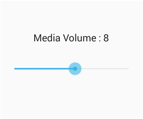 increase decrease media player volume in android using