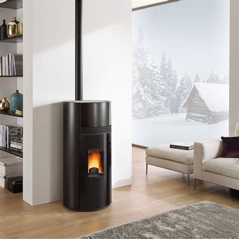 Poele A Granules by Po 234 Le 224 Granul 233 S Extraflame Doroty Noir 9 Kw Leroy Merlin