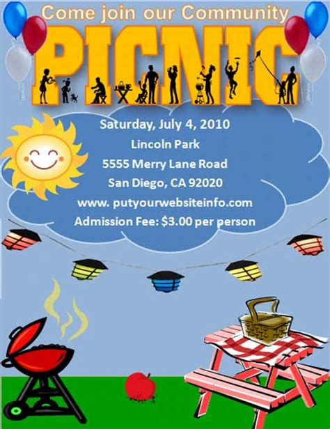 Free Church Picnic Flyer Templates 24 Free Picnic Flyer Templates For All Types Of Picnics Editable Designs Demplates