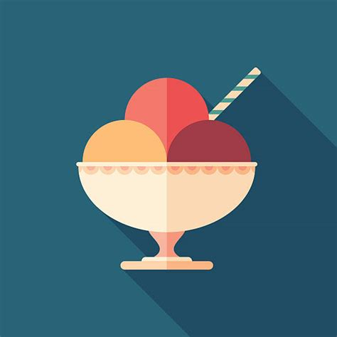 bowl  ice cream illustrations royalty  vector