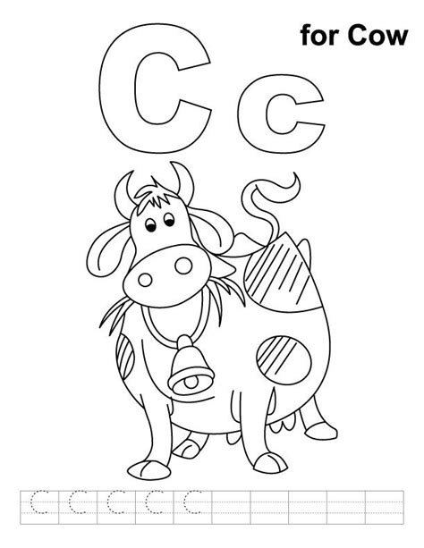 C Coloring Pages Preschool by C Cow Coloring Pages Coloring Home