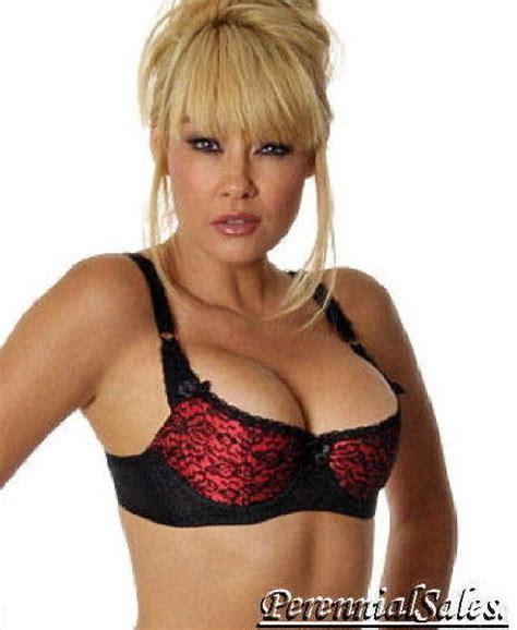 Shelf Push Up Bra satin lace demi shelf bra cleavage push up open cups