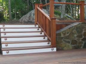 Wooden Stairs Design Outdoor Contemporary Stairs With Oak Wooden Deck And White Glossy Color A More Decor