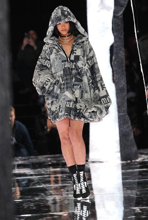 rihanna design rihanna hits runway during new york fashion week but this