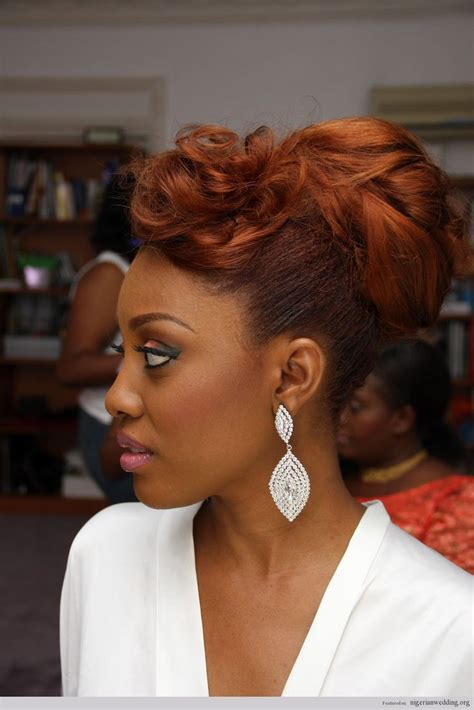 nigerian bridal hairstyles 134 best nigerian wedding hairstyles images on pinterest