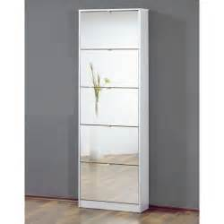 Mirrored Storage Cabinet Mirrored White Shoe Cabinet With Five Drawers Ebay