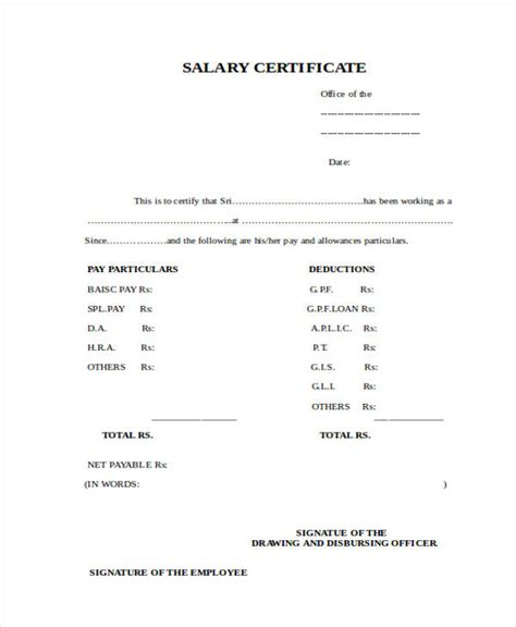 doc 9061284 salary certificate form differences