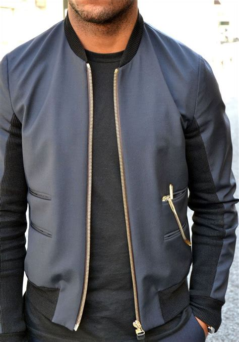 guini material styles for men great bomber jacket material mix clean gold details