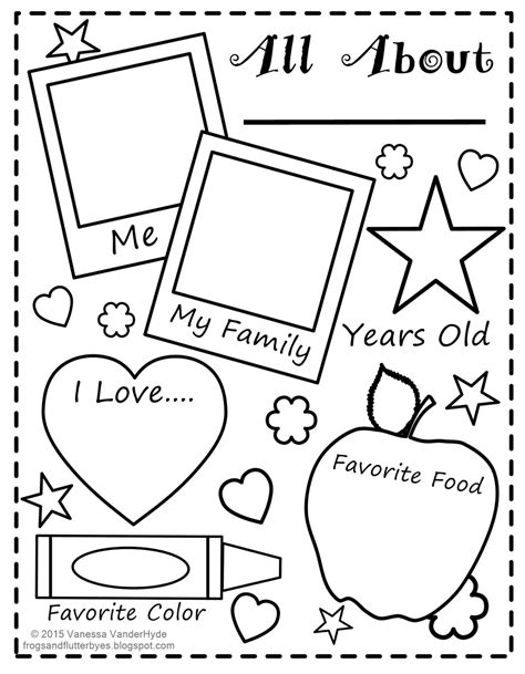 preschool coloring pages all about me i like me mirror template sketch coloring page