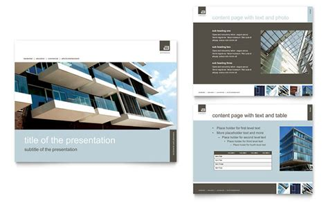 architectural design templates architect powerpoint presentation template design